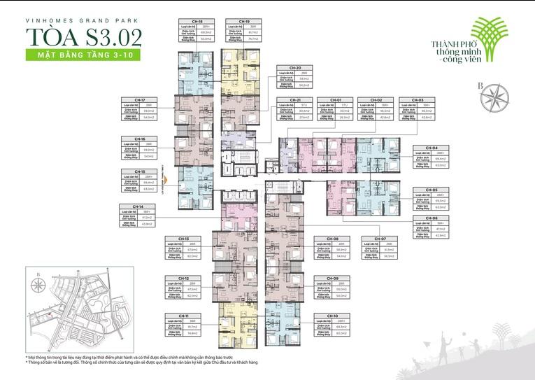 cho thuê căn hộ Tòa S3.02 Vinhomes Grand Park 2