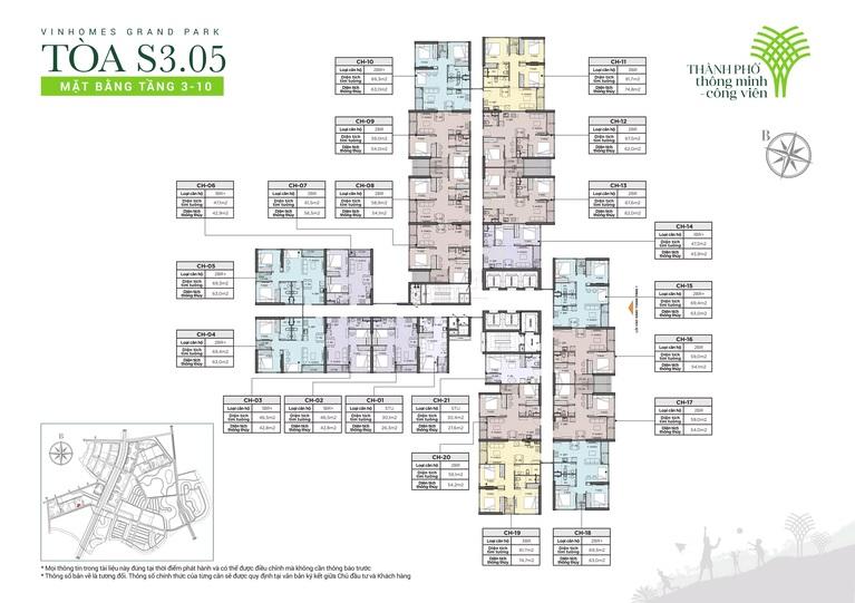Cho thuê Căn hộ tòa S3.05 Vinhomes Grand Park 2