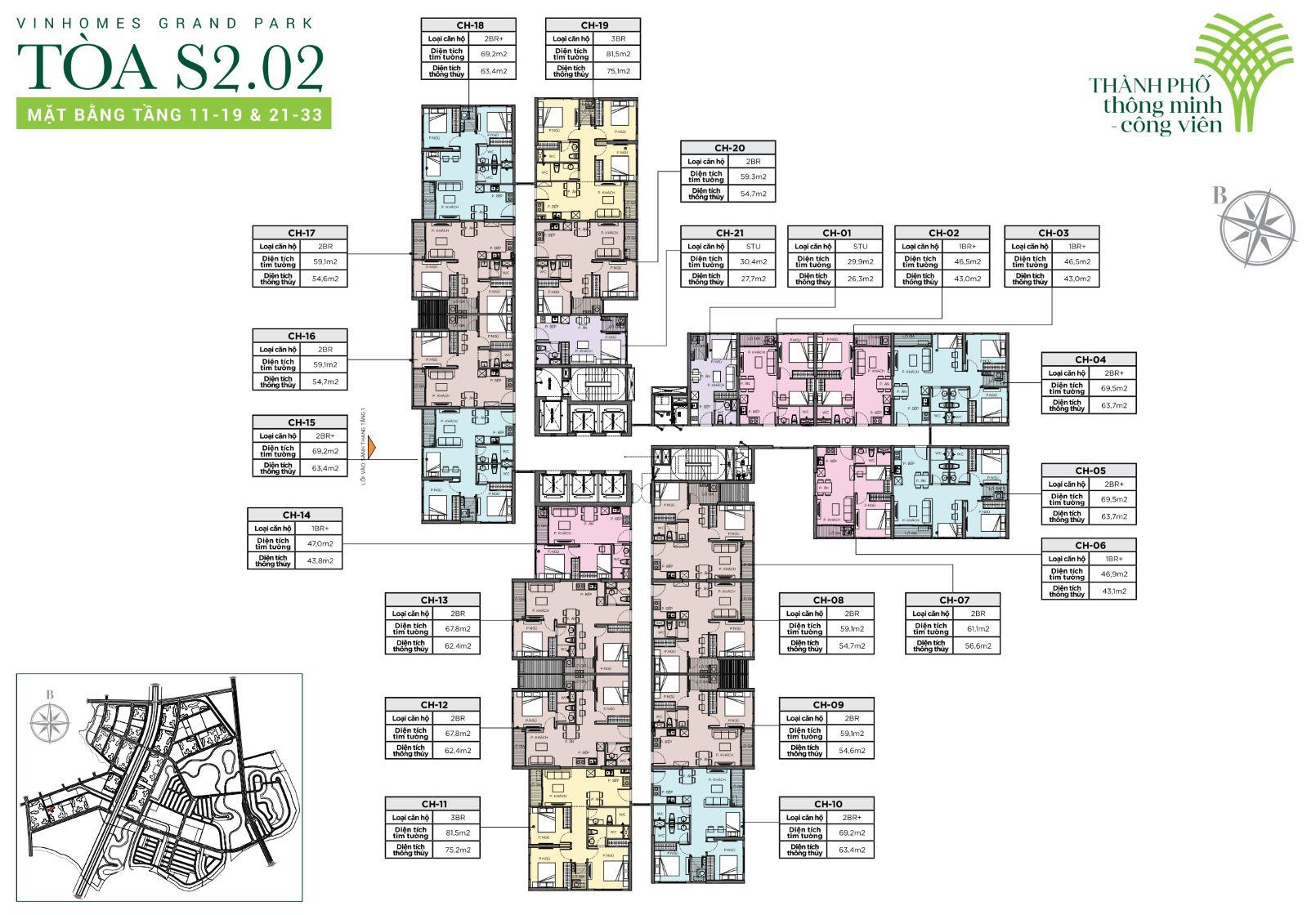 cho thuê căn hộ S2.02 Vinhomes Grand Park 1