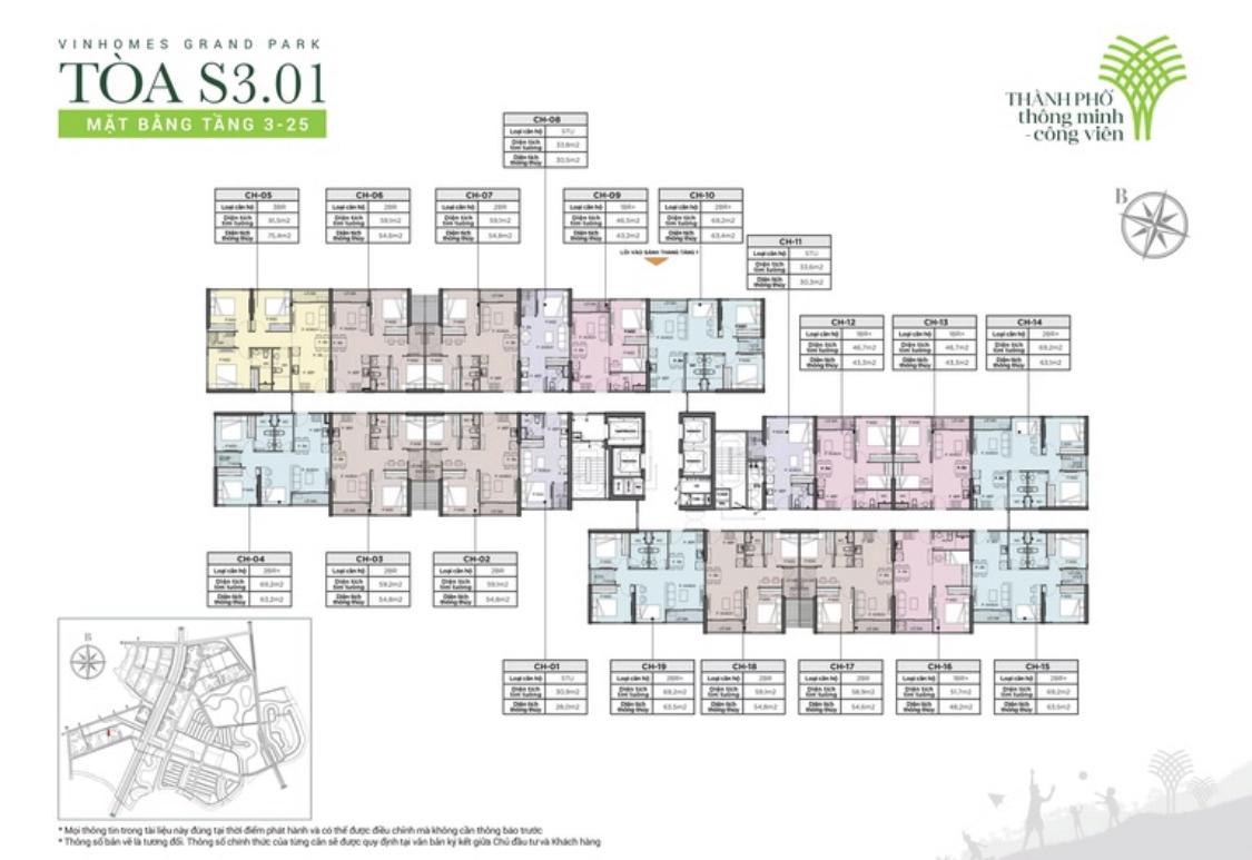 cho thuê căn hộ S3.01 Vinhomes Grand Park 2