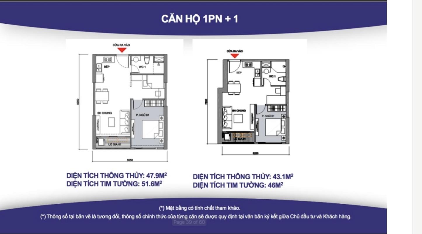 căn hộ 1 phòng ngủ khu đô thị Vinhomes Grand Park 1