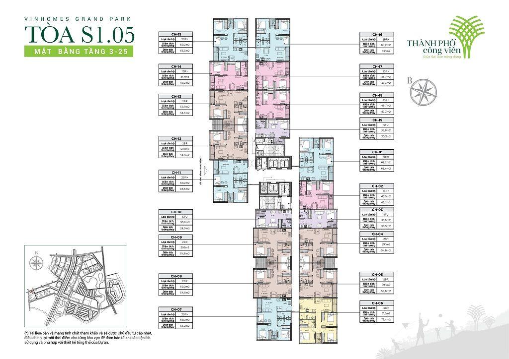 cho thuê căn hộ Tòa S1.05 Vinhomes Grand Park 2