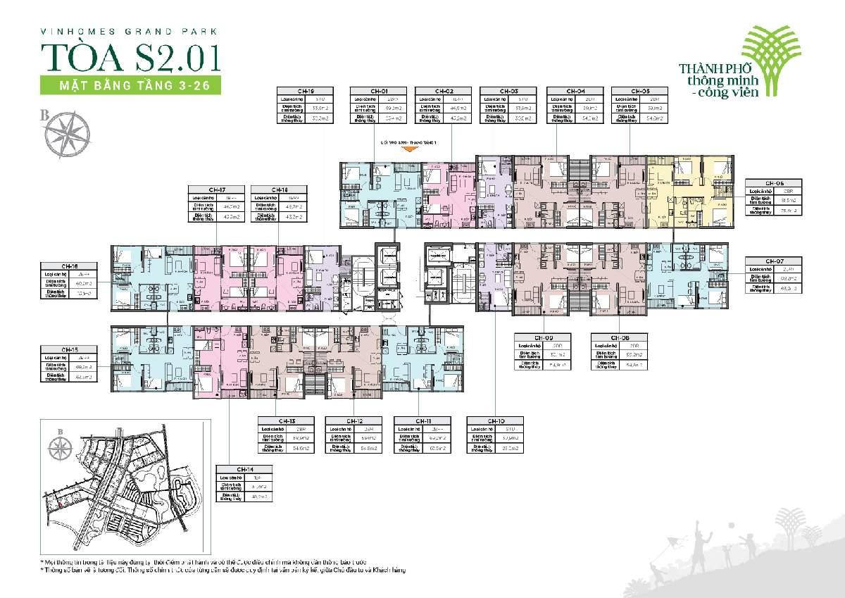 cho thuê căn hộ tòa S2.01 Vinhomes Grand Park 2