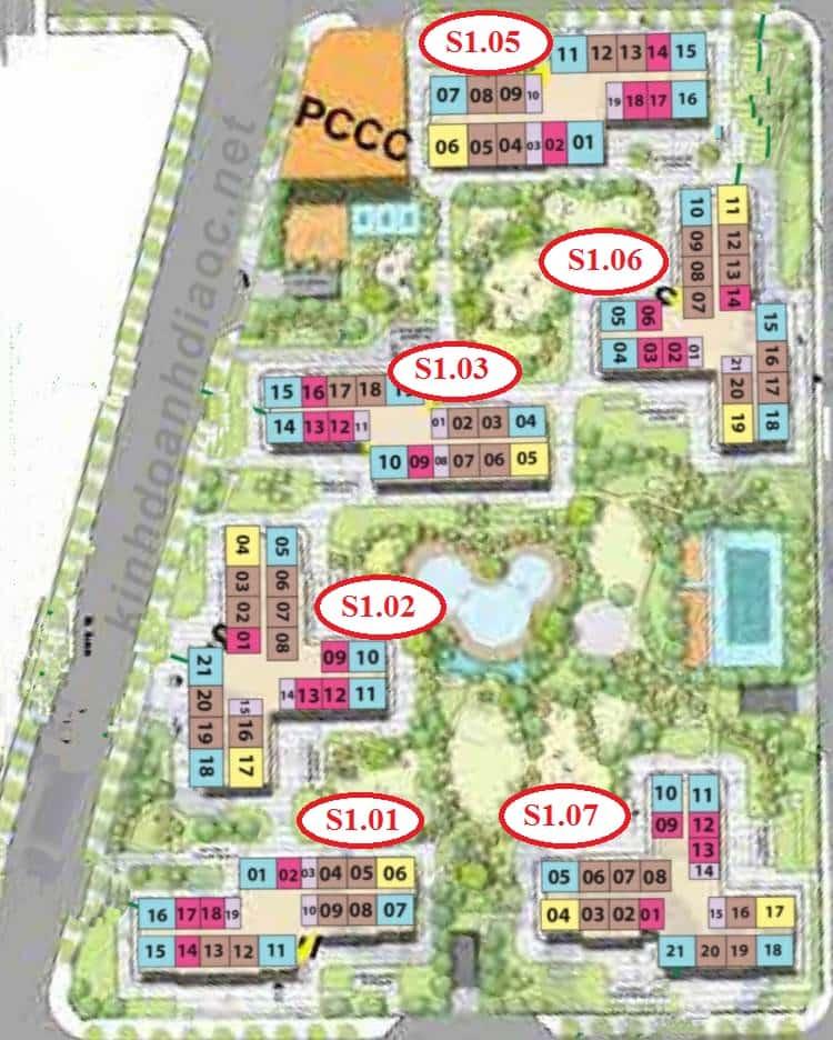 thông tin toà S1.01 Vinhomes Grand Park 2