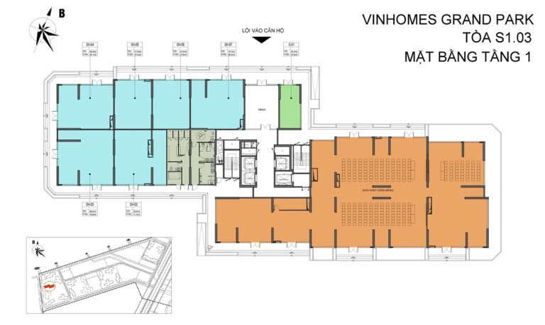 Thông tin toà S1.03 Vinhomes Grand Park 1