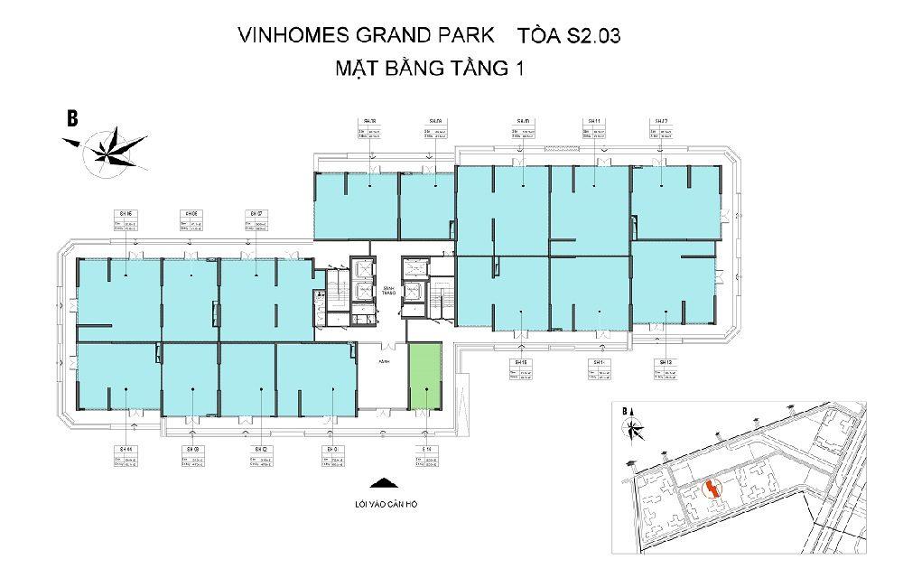 Thông tin tổng quan toà S2.03 Vinhomes Grand Park 2