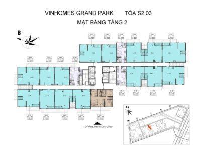 Thông tin tổng quan toà S2.03 Vinhomes Grand Park 3