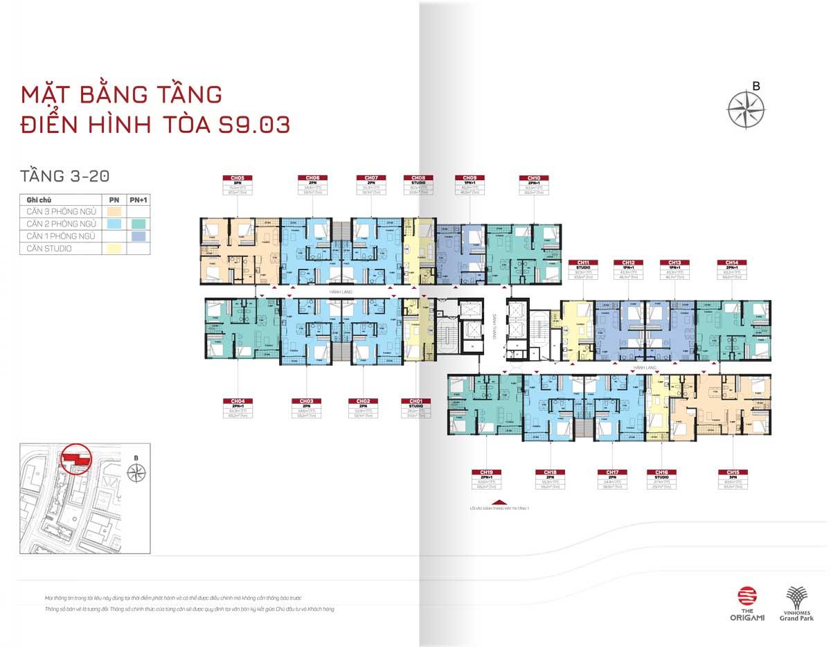 cho thuê căn hộ Toà S9.03 Vinhomes Grand Park 1