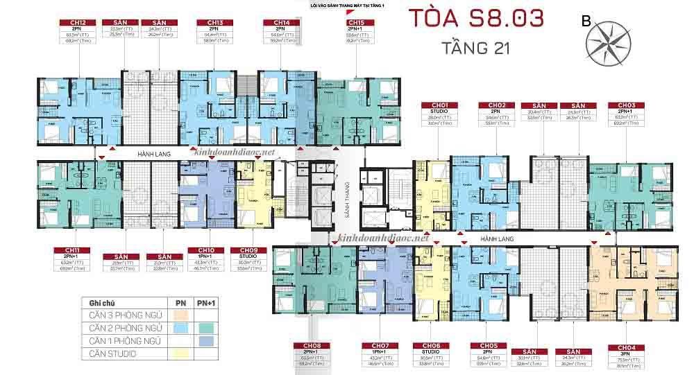 giá cho thuê căn hộ Toà S8.03 Vinhomes Grand Park 2