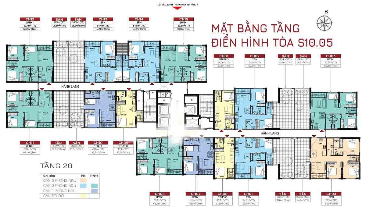 cho thuê căn hộ Toà S10.05 Vinhomes Grand Park 1