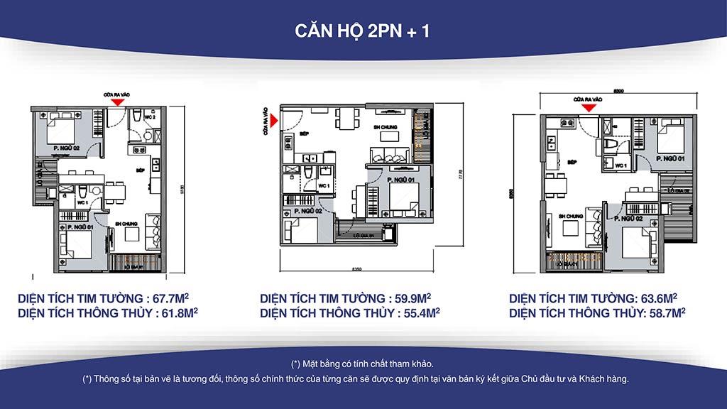 căn hộ 2 phòng ngủ cho thuê s2.02 Vinhomes Grand park