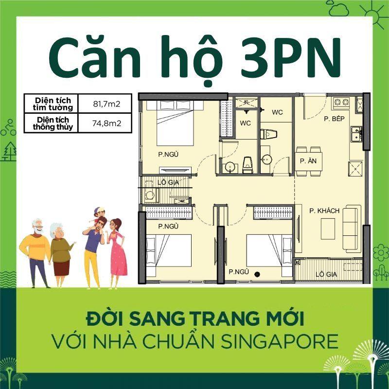 Cho thuê Căn hộ 3 phòng ngủ 83m2 trống 9tr/tháng S3.02 Vinhomes Grand Park