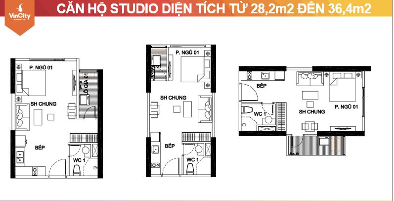 Cho thuê Căn hộ Studio nhà trống giá 3,5tr Vinhomes grand park