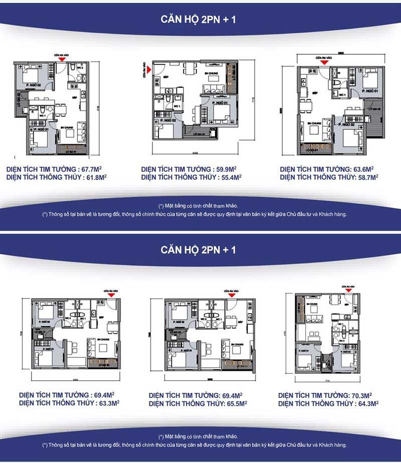 Căn hộ 2 phòng ngủ cho thuê Vinhomes grand park giá tốt nhất